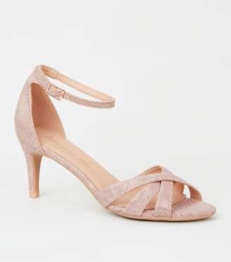 New Look Glitter Mid Stiletto Heels