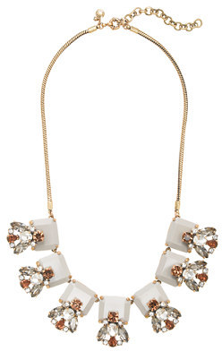 J.Crew Crystal and stone row necklace