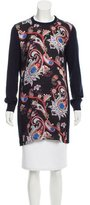 Mary Katrantzou Silk-Accented Wool Top