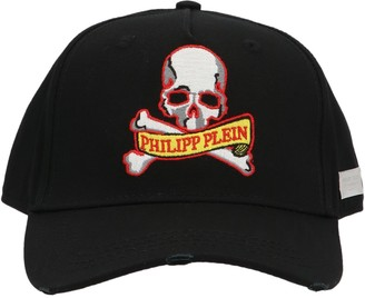 Philipp Plein Skull Logo Embroidered Baseball Cap