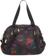 Cynthia Rowley Alex Printed Nylon Duffle Bag, Black