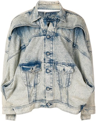 Diesel Red Tag Washed Oversized Denim Jacket