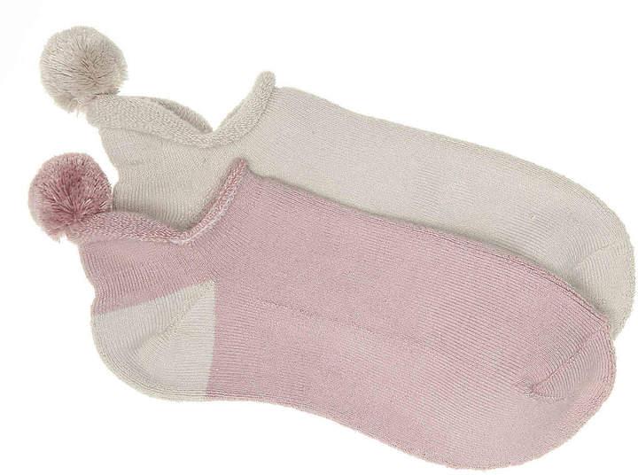 4ae1999d783 Pom No Show Socks - 2 Pack - Women's