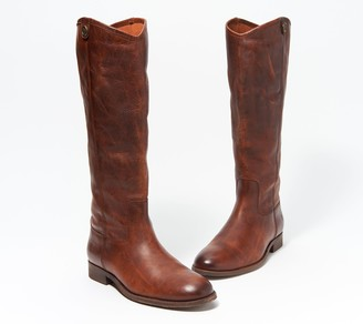 Frye Wide Calf Leather Tall Boots - Melissa Button2