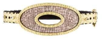 Armenta Sapphire Old World Open Oval Mosaic Bangle Bracelet
