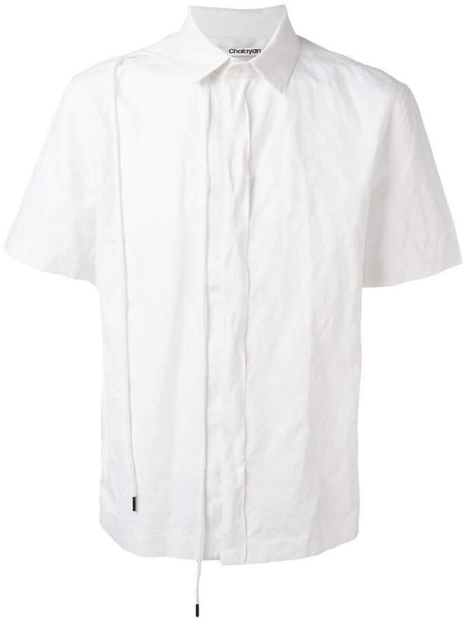 Chalayan String shortsleeved shirt