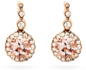 Selim Mouzannar Beirut Diamond, Morganite & 18kt Gold Earrings - Pink Gold