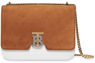 Burberry Medium Two-tone Leather and Suede TB Bag