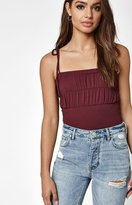 KENDALL + KYLIE Kendall & Kylie Smocked Tie Strap Tank Top