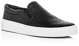Via Spiga Women's Sara Snake-Embossed Slip-On Sneakers