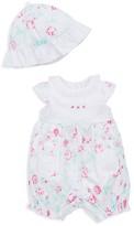 Little Me Infant Girls' Floral Romper & Hat Set - Baby