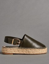 Marks and Spencer Leather Flatform Espadrilles