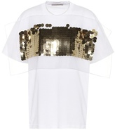 Christopher Kane Sequin-embellished cotton top