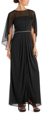 R & M Richards Rhinestone-Trim Gown