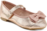 Rose Gold Embossed Bow Flat