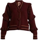 No.21 NO. 21 Ruffle-trimmed wool cardigan