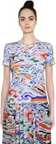 Mary Katrantzou Rainbow Cloud Cotton Jersey T-Shirt