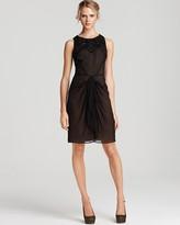 Anne Klein Silk Georgette Drape Dress
