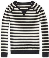 Maison Scotch Buttoned Crew Neck Sweater