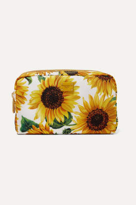 Dolce & Gabbana Printed Twill Cosmetics Case - Yellow