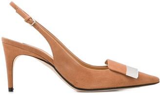 Sergio Rossi Pointed Sling-Back Pump