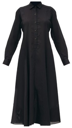 Three Graces London Fallon Cotton-voile Shirt Dress - Black