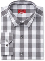 Alfani Men's Slim-Fit Stretch Black White Plaid Dress Shirt, Only at Macy's