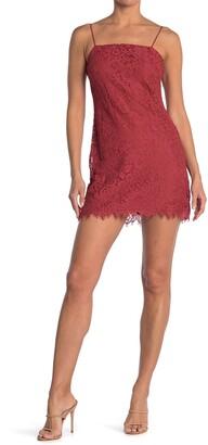 Rowa Lace Mini Shift Dress