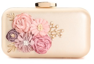 Lulu Townsend Floral Applique Clutch