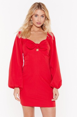 Nasty Gal Womens Pay Attention Tie Me Mini Dress - Red