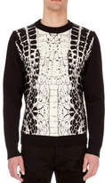Balmain Crocodile Wool-Blend Crewneck Pullover