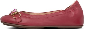 FitFlop Allegro Blossom Leather Ballet Flats
