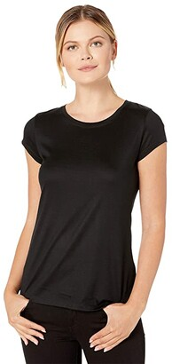 Pendleton Short Sleeve Merino Tee (Black) Women's T Shirt