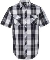 Burnside Mens Plaid Short Sleeve Shirt -BLUE/BLACK -XL