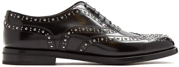 Church's Burwood stud-embellished leather brogues
