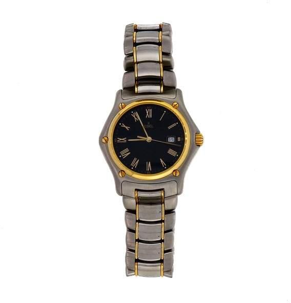 Ebel 1911 Quartz Stainless Steel Black Dial 33mm Womens Wrist Watch