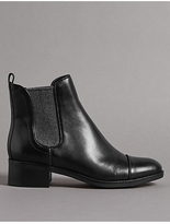 Autograph Leather Block Heel Chelsea Ankle Boots