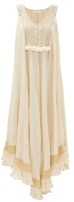 Mes Demoiselles Chibca Embroidered And Tasselled Dress - Cream