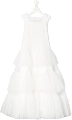 MonnaLisa Sleeveless Tulle Bridesmaid Dress
