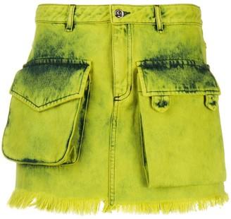 Marques Almeida Frayed Denim Skirt