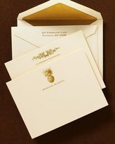 50 Ivory & Gold Correspondence Cards with Personalized Envelopes