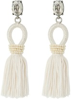 Oscar de la Renta Short Silk Tassel C Earrings Earring