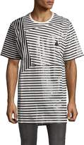 PRPS Men's Cotton Candy Casual Striped Tee