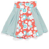Girl's Chooze 'Flow' Mixed Print Skirt