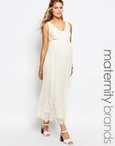 Mama Licious Mama.licious Mamalicious Premium Lace Maxi Dress