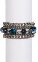 Sorrelli Emerald City Multi-Strand Crystal Bead Bracelet