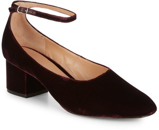 Sigerson Morrison Blocked Ankle-Strap Pumps