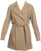 Drome Brown Leather Trench