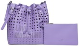 Love Moschino Laser Cutout Hobo Bag