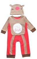 Lestore Baby Boy Christmas Romper Newborn Bodysuit Costume Outfit Hat 2pcs (12-18 Months, )